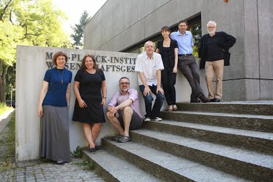 CBD board members with the colleagues at the Max Planck institute for the history of science (from left): Birutė Railienė, Sivia Waisse, Gavan McCarthy, Markus Schnöpf, Elise Hanrahn, Stephen Weldon, Urs Schoepflin. Picture by Thomas Hapke
